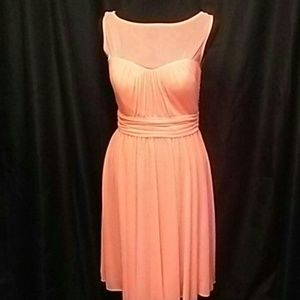 David's Bridal Orange/Peach Short Dress